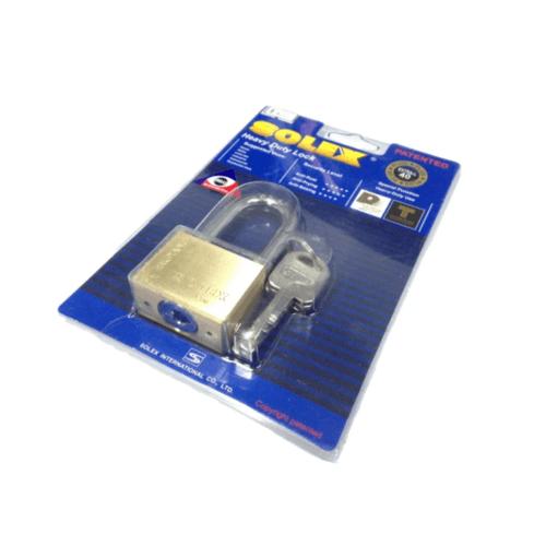 SOLEX กุญแจคล้อง 50 มม. - สีทอง