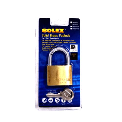 SOLEX กุญแจสปริง - แผง ขนาด 50 มม. SL 99 50 MM สีทอง