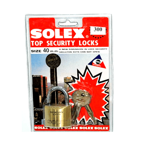 SOLEX กุญแจคล้อง 40 มม. - สีเหลือง