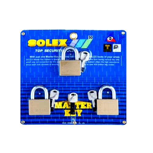 SOLEX 50 mm key padlock MTK 3:1  PLUS  สีทอง