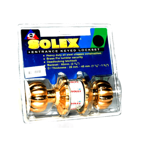 SOLEX ลูกบิด (แผง) 9899 PBSB  สีทอง