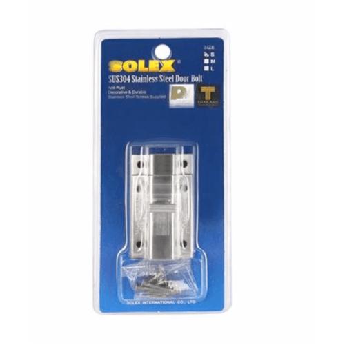 SOLEX กลอนสแตนเลสห้องน้ำขนาดเล็ก S สีขาว