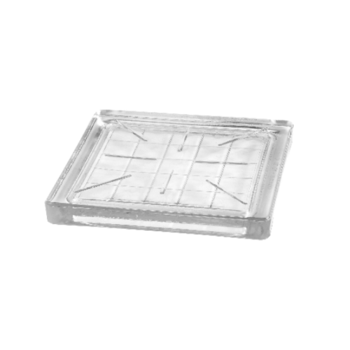 ช้างแก้ว บล็อกแก้วตัน ปูพื้น  (200x200x22mm.) Prisma I-098/03 A.