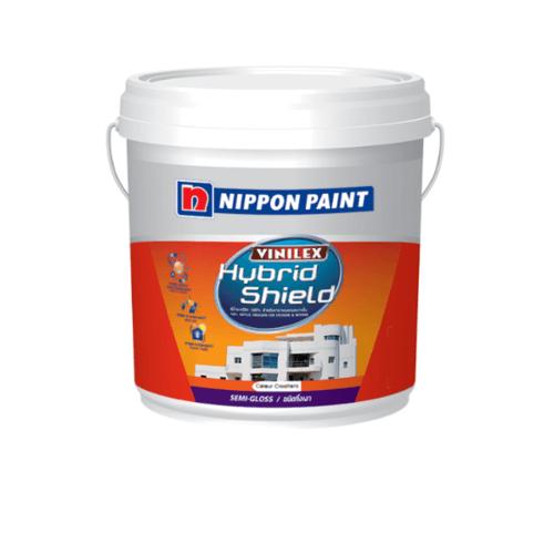 NIPPON สีน้ำอคลิลิค กึ่งเงา เบส เอ Hybrid shield ขาว