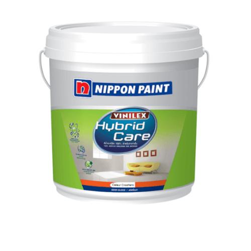 NIPPON สีน้ำผสมกึ่งเงา เบส เอ Hybrid care ขาว