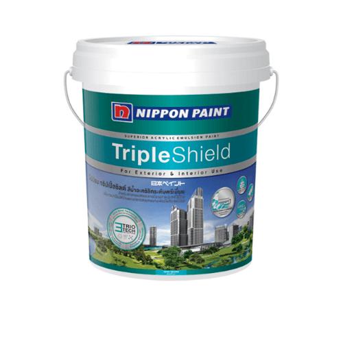NIPPON สีน้ำทาภายนอก  เหลือบเงา เบส A กล Triple Shield  ขาว
