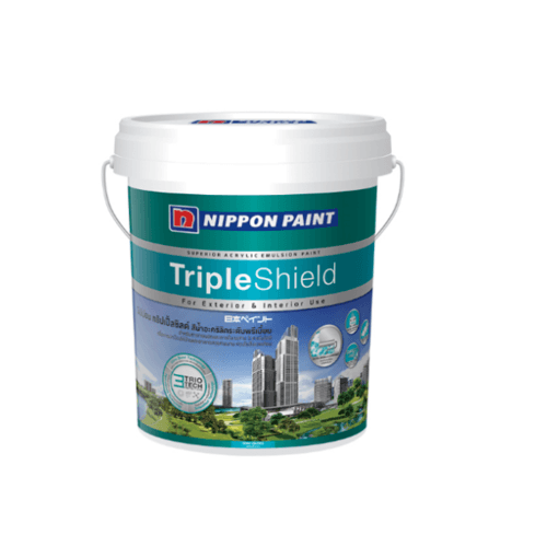 NIPPON สีน้ำทาภายนอก กึ่งเงา เบส A Triple Shield ขาว