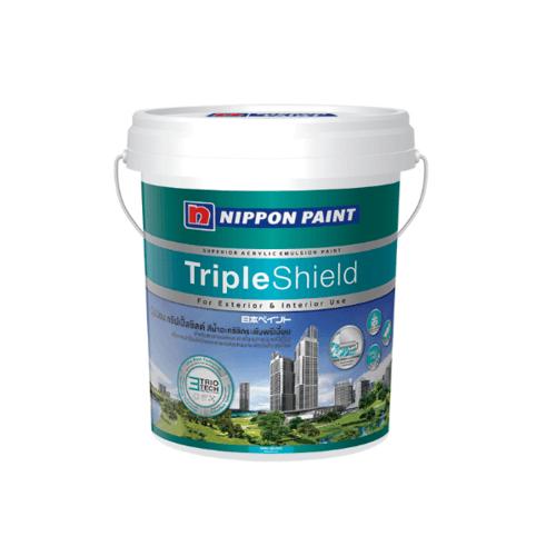 NIPPON สีน้ำทาภายนอก กึ่งเงา เบส B  ถัง Triple Shield ขาว