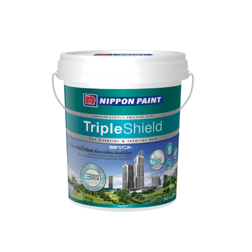 NIPPON สีน้ำทาภายนอก กึ่งเงา เบส C กล Triple Shield ขาว