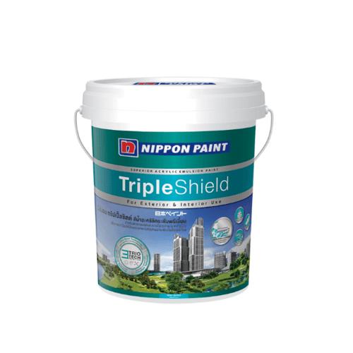 NIPPON สีน้ำทาภายนอก กึ่งเงา เบส C Triple Shield  ขาว