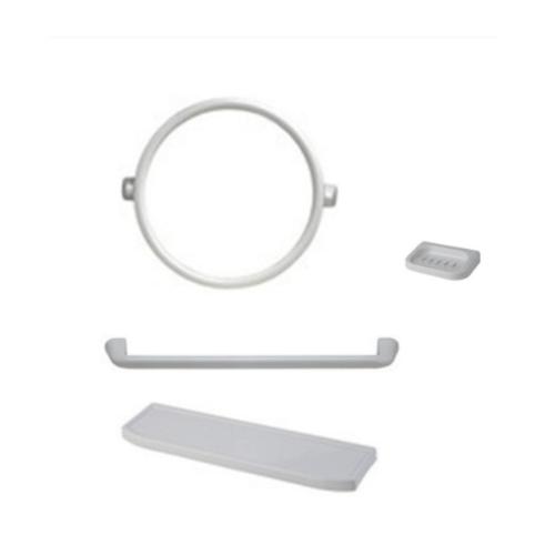 PIXO กระจกชุด4ชิ้นแบบกลม MS05 ขาว
