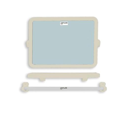 PIXO กระจกชุด3ชิ้นแบบเหลี่ยม MS07 เทา
