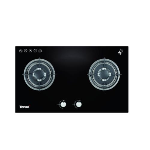 TECNOGAS เตาแก๊สแบบฝังหน้ากระจก 2 หัวเตา  TNS HB 2073 GB สีดำ