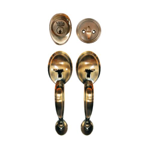YALE กุญแจมือจับประตูทางเข้า HG6620AC ทองแดงรมดำ