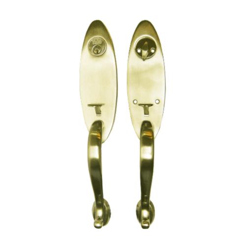 YALE กุญแจมือจับประตูทางเข้า HG6950PB ทองเหลือง