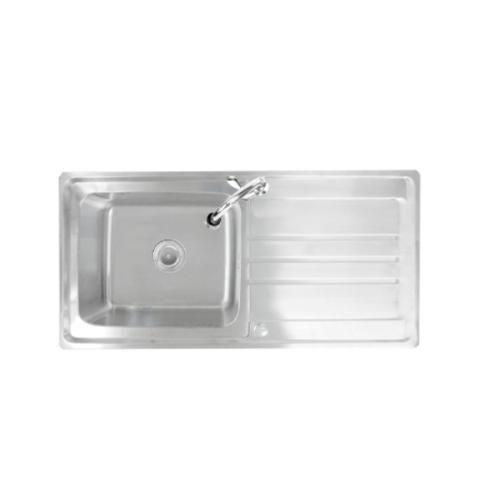 TECNOGAS อ่างล้างจาน 1หลุม 1ที่พัก sink TNP SD 100 สเตนเลส