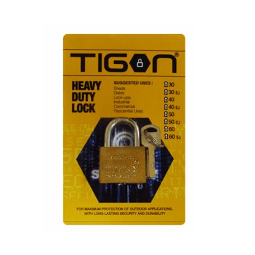TIGON กุญแจชุบทอง ขนาด 30 มม. 30 มิล คอสั้น ชุบทอง ทอง