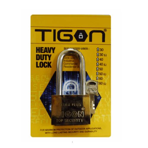 TIGON กุญแจชุบทอง คอยาว  ขนาด 40 มม. -