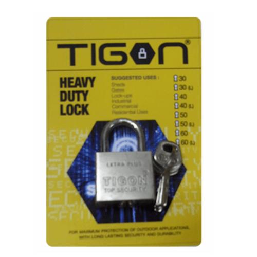 TIGON กุญแจชุบเงิน ขนาด  50 มม.คอสั้น -