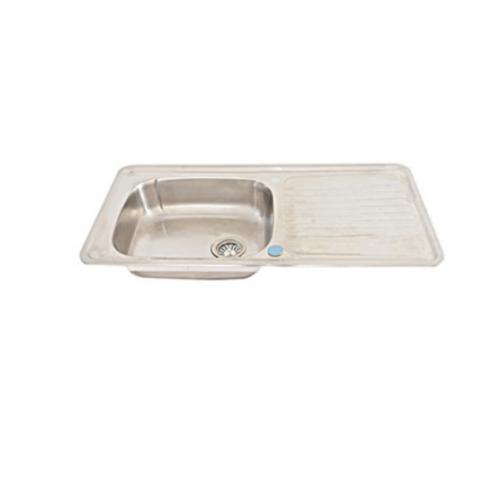 AXIA อ่างล้างจาน 1หลุมมีที่พัก ALT 100  สีโครเมี่ยม