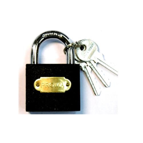 PROMA กุญแจดำ 20 มม. - สีดำ