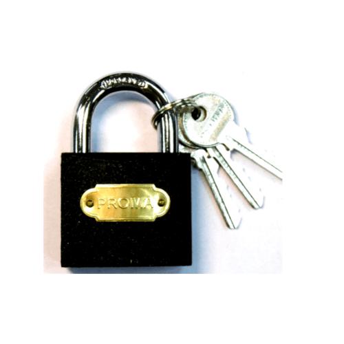PROMA กุญแจดำ 25 มม. - สีดำ