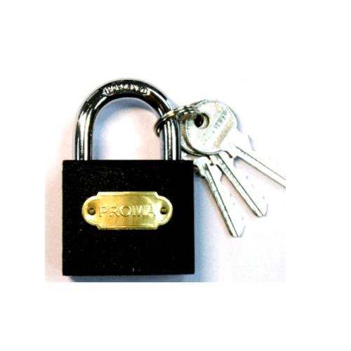 PROMA กุญแจดำ 38 มม. - สีดำ