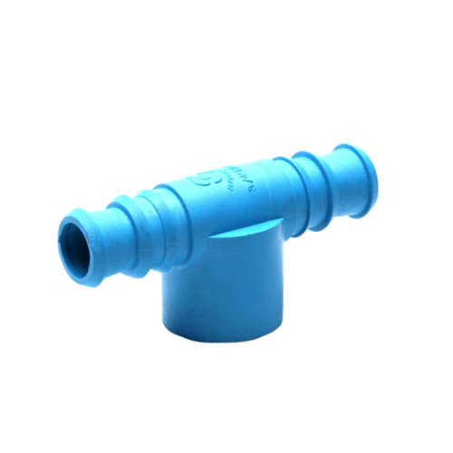 Super Products ข้อต่อสามทางพีวีซี-พีอี1/2 นิ้ว x 20  (5 ตัว/ แพ็ค) TM-PVC ฟ้า