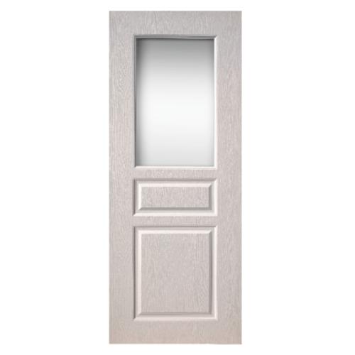 BWOOD ประตู VINYL Eco Series 80x200 เจาะ BEG002 สีขาว