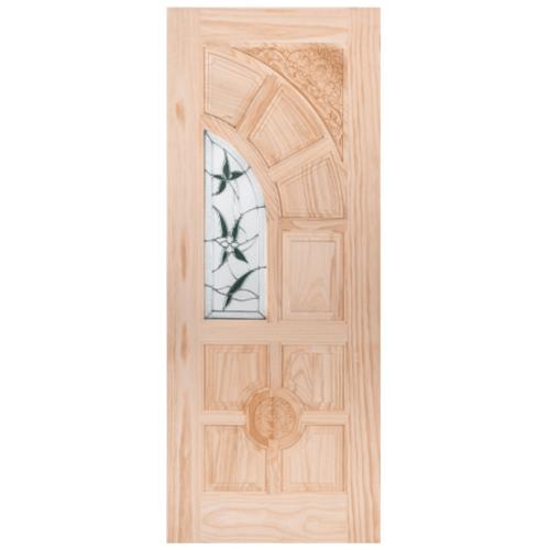 WINDOOR ประตู+กระจก สนNz ขนาด 100x200 ซม. ชัยพฤกษ์ สีเหลือง