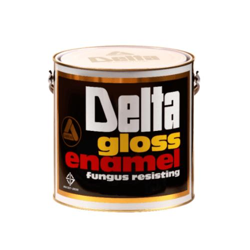 DELTA สีเคลือบน้ำมันเงา 707 ดำ