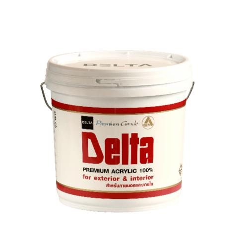DELTA สีน้ำภายนอก  Base A  ขาว
