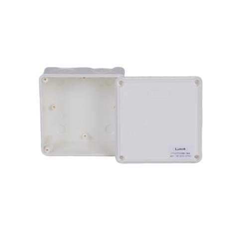 LEETECH กล่องพลาสติกกันน้ำ ขนาด 110 x 110 x 60 มม. WB 404 W สีขาว