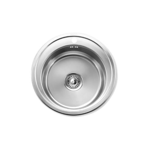 HAFELE อ่างล้างจาน 1 หลุมกลม 567.20.049 สเตนเลสด้าน