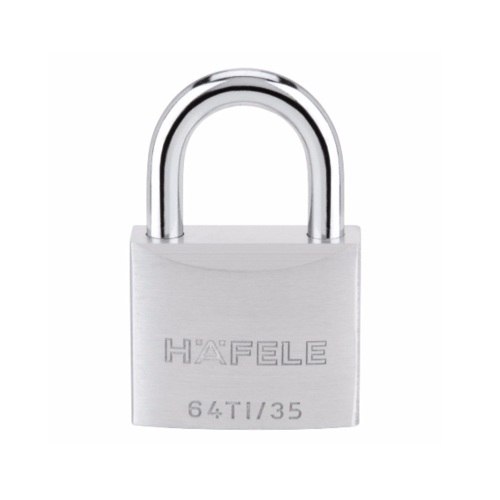 HAFELE กุญแจล็อคสายยู ไททาเลี่ยม ขนาด 35มม. 482.01.823 สเตนเลส