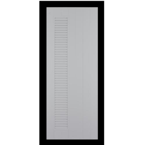 CHAMP ประตูแชมป์ 80x200 CM. (เจาะ) M6  สีเทา