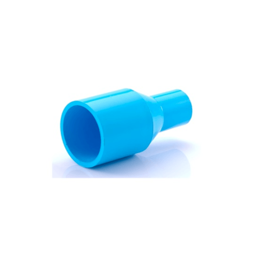 SCG ข้อต่อตรงลด หนา ขนาด 1x3/4(25x20) สีฟ้า