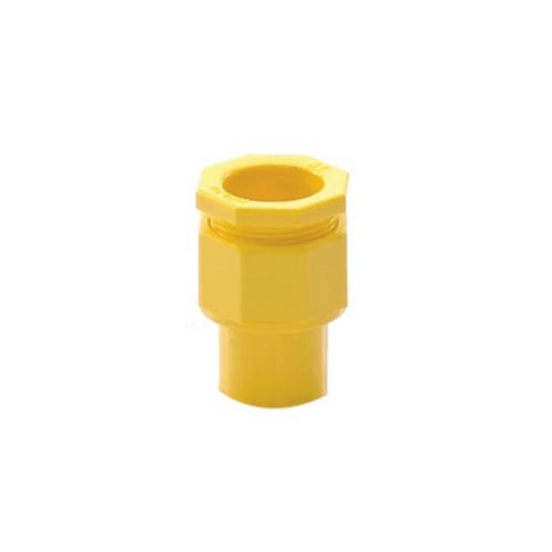 SCG ข้อต่อเข้ากล่องร้อยสายเหลือง ขนาด  3/4 นิ้ว - เหลือง