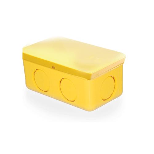 กล่องพักสายสี่เหลี่ยม 4x2  4x2 เหลือง เหลือง