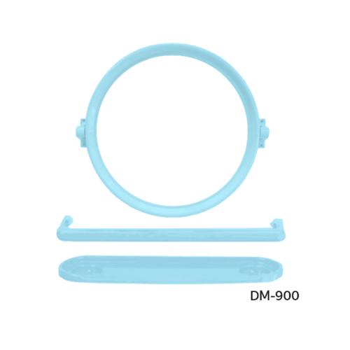 DONMARK ชุดกระจกพลาสติก ABS 3 ชิ้น กลม DM-900 สีฟ้ามิ้น