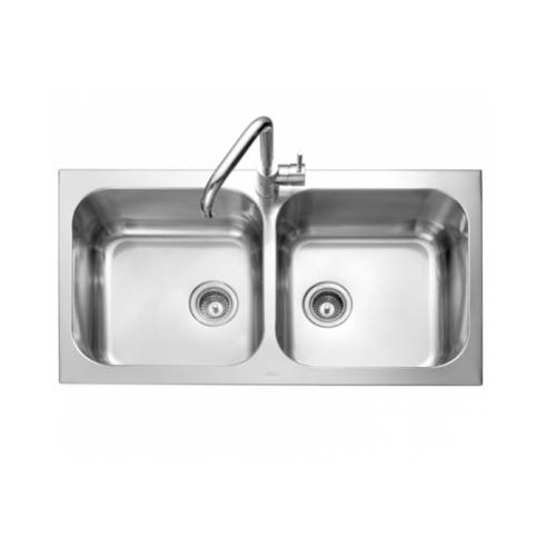 MEX อ่างล้างจาน 2 หลุม TWIN-B