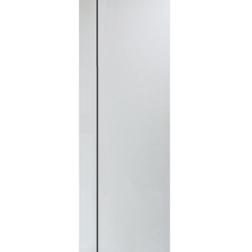 PEOPLE ประตู UPVC  เซาะร่องดำ 70x200 cm.(เจาะ)  MG1 สีขาว