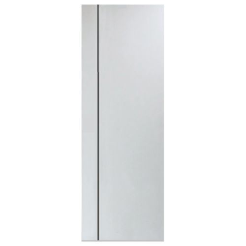 PEOPLE ประตู UPVC เซาะร่องดำ  70x200 cm. (ไม่เจาะ)  MG1 สีขาว