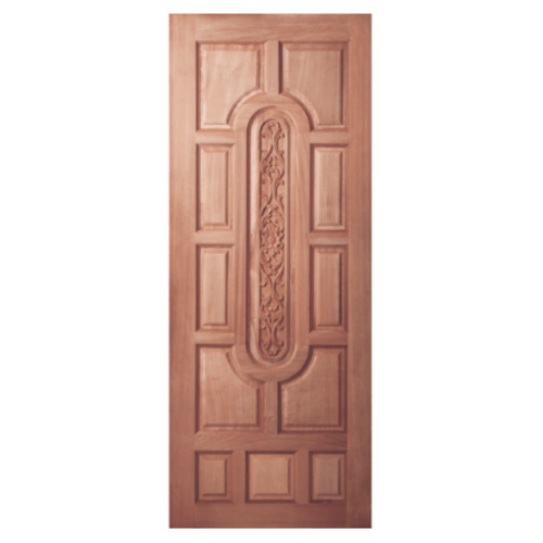 BEST ประตูไม้สยาแดง ขนาด 90x200 cm.  GC-33