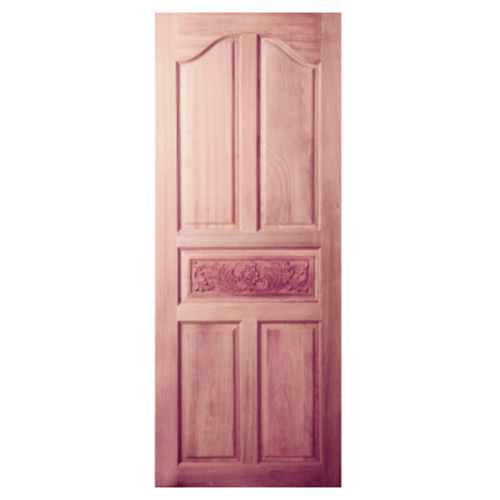 BEST ประตูไม้สยาแดง ขนาด  80x200 cm.  GC-52