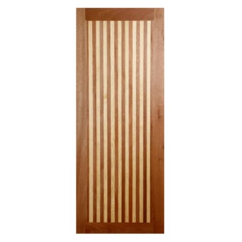 BEST ประตูไม้สยาแดง  ขนาด 100x200 cm.  GL-01