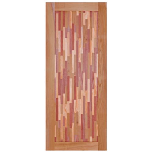 BEST ประตูไม้สยาแดง  ขนาด80x200 cm. GL-09