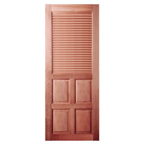 BEST ประตูไม้สยาแดง ขนาด 80x180 cm. GS-25