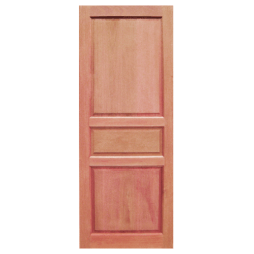 BEST ประตูไม้สยาแดง  ขนาด100x200 cm. GS-40