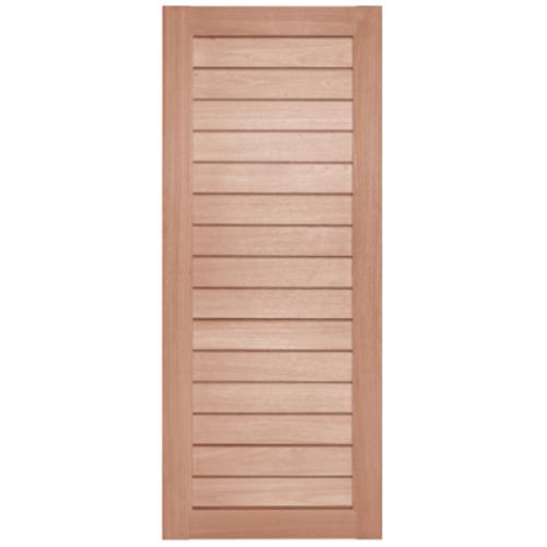BEST ประตูไม้สยาแดง ขนาด 70x180 cm. GS-52